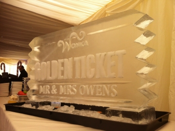 Golden Ticket Drinks Luge