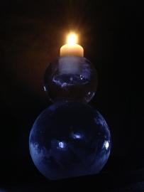 Double Ice Globe Candlestick