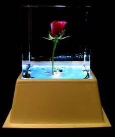 Standard-size Flower in Ice Table Centre