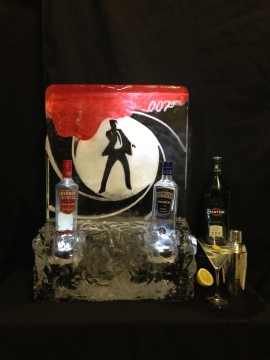 James Bond 007 Plaque & Bottle Cooler