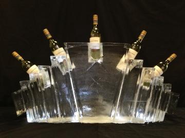 Landscape Art Deco Champagne Cooler (Single Block)