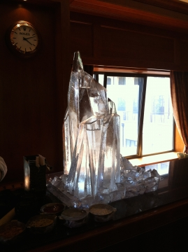 Abstract Ice Crystal Ice Sculpture