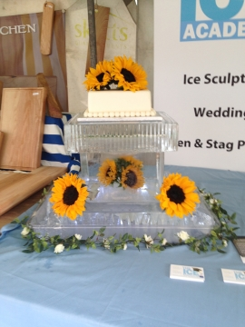Wedding Cake Stand with Flowers in ice