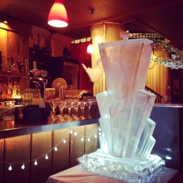 Art Deco Cocktail Luge