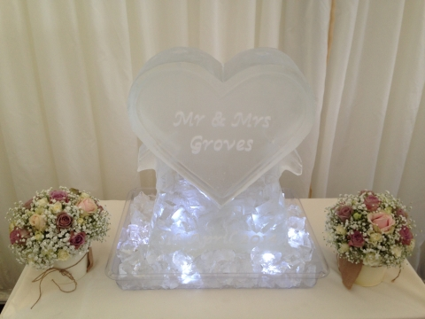 Double Vodka Luge Engraved Heart