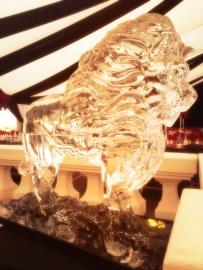 Lion (double block sculpture)
