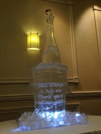 Giant Champagne Bottle with Ice Bucket - engraved