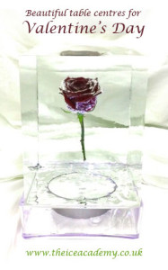 Valentine's Day - Rose in Ice Table Centre