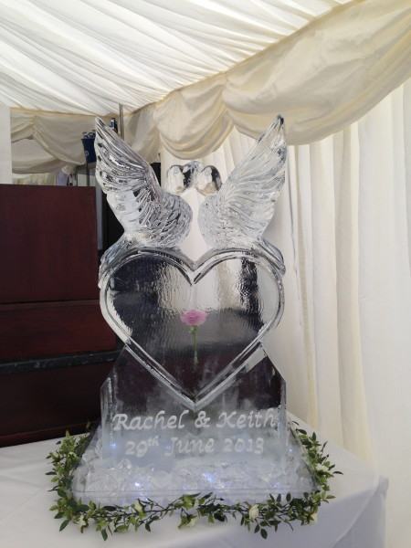 Lovebirds on Heart with Engraving