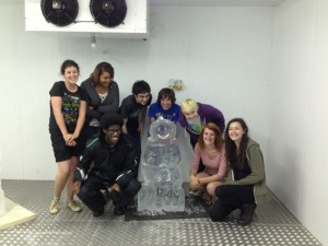 Ice Sculpting Party played 'Consequences' with ice!