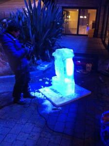 Live Carving of a penguin at the Christmas Kingdom