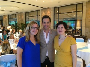 Me and Anna with Gethin Jones at the Ladies Who Lunch For Luca event
