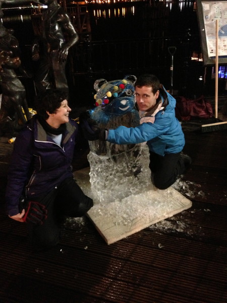 Laura and Gareth with Pudsey