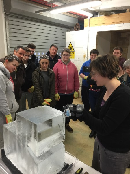 Ice Sculpting with Ystrad Mynach College