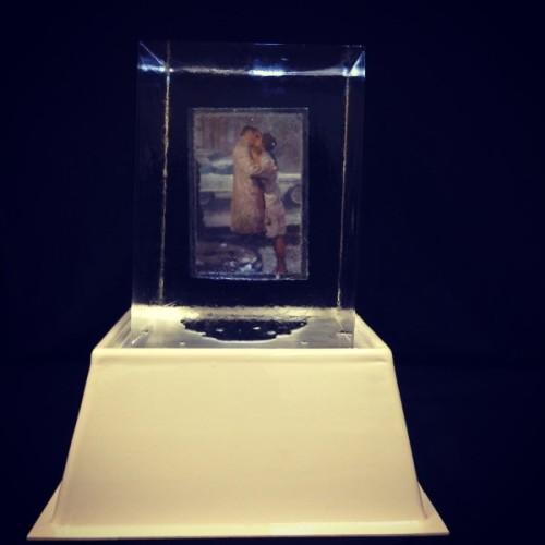 Photograph Suspended in Ice