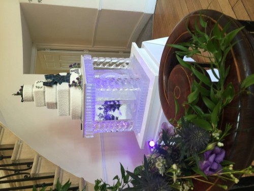 Large, Bespoke Cake Stand Ice Sculpture