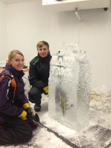 Ice Workshop - couple designed and made their own sculpture for their wedding.