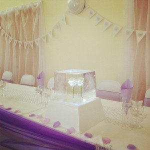 """""""Loved the roses in ice, thank you"""" Lorna. """"Made our wedding really stand out thank you"""" Robert"""