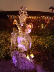 Rudolph at The Celtic Manor's Christmas Kingdom 2014